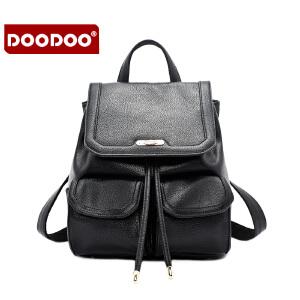 DOODOO 2017新款包包女包双肩包时尚欧美风百搭背包学生包旅游书包女士包包 D6005 【支持礼品卡】