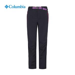 【领卷满400减100】Columbia哥伦比亚户外女裤防晒防泼水弹力休闲冲锋长裤PL8138