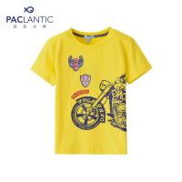 派克兰帝品牌童装  夏装男童时尚运动短T 男童夏季短袖T恤