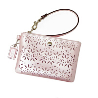 【COACH�f驰】女士真皮珍珠亮面镂空手机包 钥匙包 手提零钱包 51609
