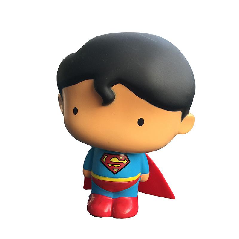 超级英雄 正义联盟《蝙蝠侠大战超人:正义黎明》 q版超人储蓄罐可爱