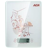 【ACA北美电器旗舰店】北美电器AES-Q7 玻璃面板厨房电子秤 高精度传感