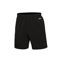李宁男子跑步系列平口运动短裤运动服AKSL043