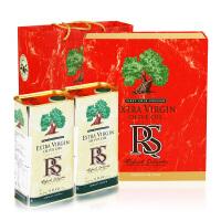 RS牌特级初榨橄榄油礼盒装 1000ml 铁桶X2 西班牙进口 节日礼盒 原瓶原装 无糖 食用油 孕妇 儿童