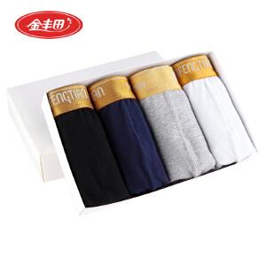 4条装 金丰田时尚学生内裤 性感棉质平角裤 3378