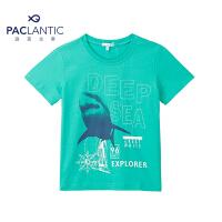 派克兰帝品牌童装  男童户外运动休闲短袖T恤 儿童短T