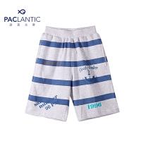 派克兰帝品牌童装 夏装男童针织印花运动休闲五分裤 男童短裤
