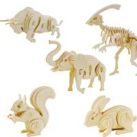 正品若态科技木质模型拼装玩具益智送物3D立体拼图儿童益智玩具
