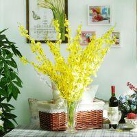 美式乡村家饰软装仿真花假花绢花落地长治白色黄色跳舞兰