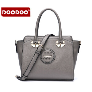 DOODOO 包包2017新款时尚女日韩风范OL手提包休闲多隔层百搭单肩斜挎女士包包 D6092 【支持礼品卡】