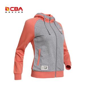CBA女子运动卫衣 春秋季开衫运动女装 连帽针织运动外套女式外套卫衣潮