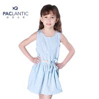 派克兰帝品牌童装  夏装女童时尚印花连衣裙 儿童背心裙
