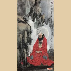 《悟禅图》李志远 一级美术师,中国文化研究院院士【编号】W1562