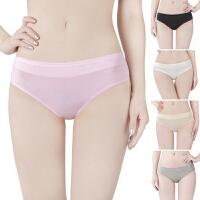 5条5色装 内裤 女 棉质性感可爱舒适低腰提臀少女实拍全棉三角裤
