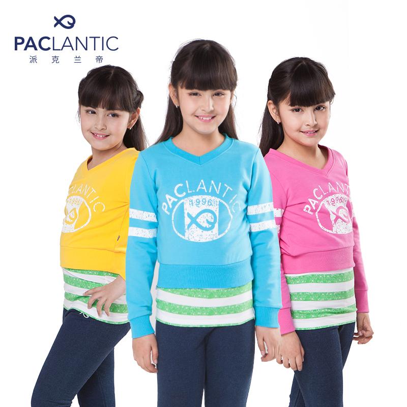 派克兰帝品牌童装 女童logo系列时尚套装儿童秋装