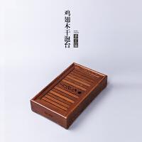 林仕屋功夫茶具鸡翅木茶盘嵌入式实木茶台整块茶海托盘干泡台CMZ1729