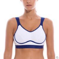 新品女士复合式拼接 户外休闲  跑步健身大码   速干吸湿防震无钢圈运动文胸  超薄内衣女