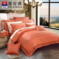 富安娜家纺纯棉四件套欧美风单人双人被套床单全棉床上用品奥罗拉