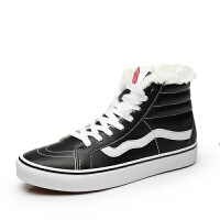 万斯男鞋冬季高帮鞋情侣鞋经典款休闲鞋滑板鞋女鞋保暖板鞋WS088