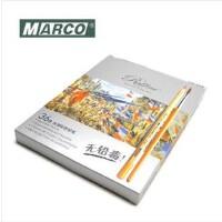 马可MARCO 原木杆水溶彩色铅笔 马可7121-12色/24色36色水溶彩铅优质办公文具 笔类 学生铅笔