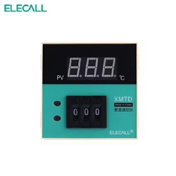 伊莱科 智能温控仪 数显拨码温度控制器 温控开关 xmtd-2001