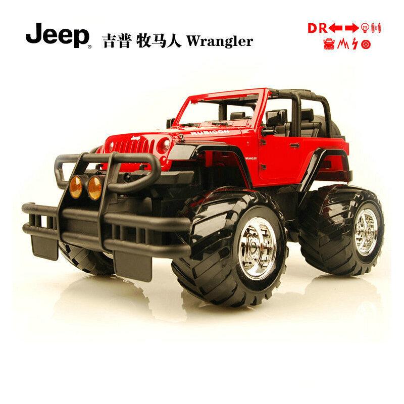 开门 吉普越野遥控车 牧马人 jeep 儿童遥控车 漂移遥控充电玩具汽车