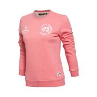 乐途卫衣女士运动生活系列套头衫长袖圆领针织运动服EWDL034