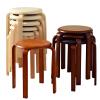 家逸 时尚简约创意圆凳 休闲椅坐凳实木凳子 餐椅 弯曲木凳 单把