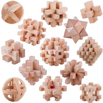 【小玩家玩具店】一点 孔明锁 鲁班锁 套装 益智玩具0-1-3-6岁 益.