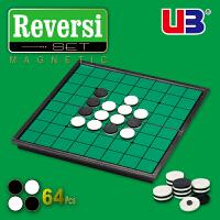UB友邦中号直角翻转棋黑白棋苹果棋Othello 便携磁性折叠桌面游戏