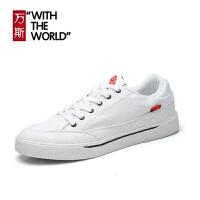 万斯秋季新款男鞋运动休闲鞋低帮帆布鞋情侣鞋女鞋板鞋WS065