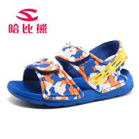 哈比熊童鞋2017夏季男童凉鞋新款中大童儿童凉鞋韩版露趾男女童沙滩鞋