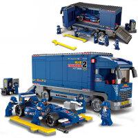 小鲁班益智积木拼插玩具 拼装玩具 拼插模型F1赛车模型拼装积木 M38-B0357