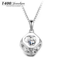 T400挚爱S925银项链镶嵌施华洛世奇锆石项链简约吊坠10811