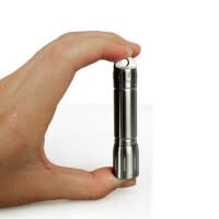 迷你手电筒 LED强光不锈钢小手电筒户外便携袖珍7号电池