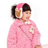 绿盒子童装 珍妮贝尔 羊羔绒兔子耳罩 QJD0025 均码(两色可选)