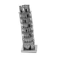 爱拼 全金属diy 建筑拼装模型 3D纳米 立体拼图 比萨斜塔