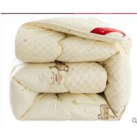 精致柔软舒适保暖被子双人被芯棉被简单大气精致花纹加厚澳洲优质羊毛被