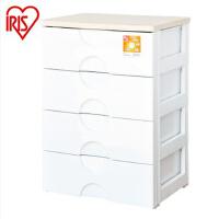 爱丽思IRIS直销 4层抽屉柜整理柜衣物 树脂收纳柜RG-554B