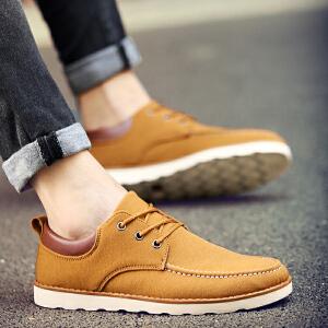 罗兰船长 时尚休闲阿甘鞋厚底缓震帆布鞋