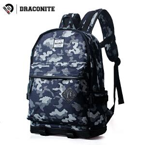 DRACONITE欧美风潮牌迷彩双肩包男学生书包女迷彩背包旅行包11254