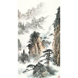 董寿平 黄山松石