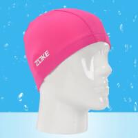 新款儿童针织泳帽柔软舒适布帽男女童通用大号游泳帽