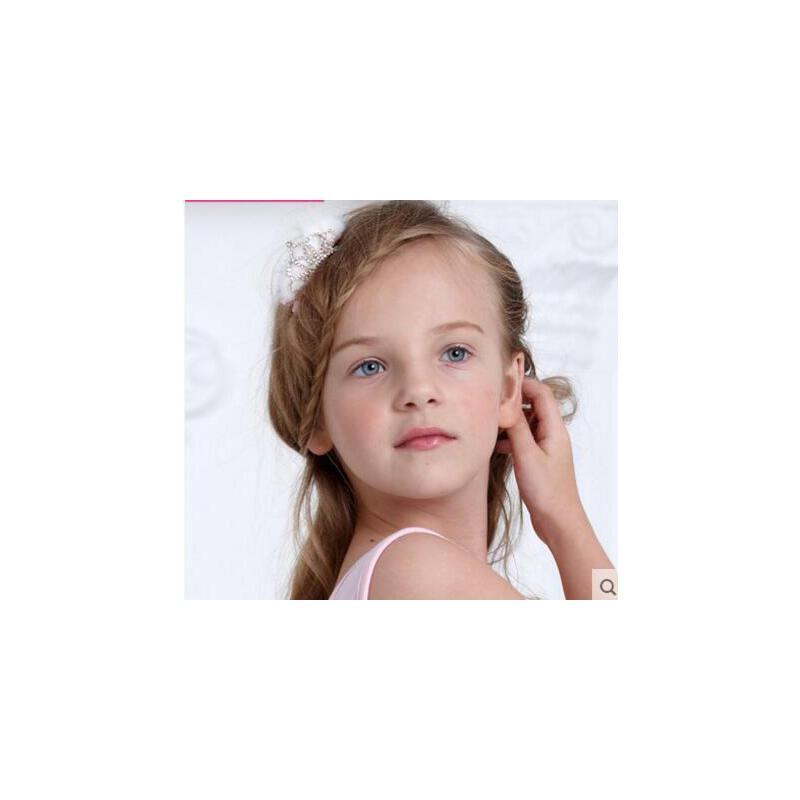 甜美清新可爱公主皇冠女童水钻发夹 小巧精致耐用儿童舞蹈演出发头
