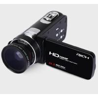 包邮 RICH/莱彩 HD-913 数码摄像机 摄影机 1080P 高清 暂停 家用 DV录像机 照相机  2400万像素 触控屏 时间显示