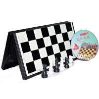 大号正版 立体国际象棋 光盘教材 中文说明 磁性折叠桌 树脂棋子