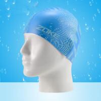 新款硅胶儿童泳帽防水护耳时尚泳帽舒适不勒头男女童游泳帽