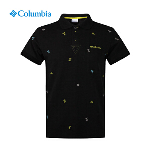 【领卷满400减100】Columbia哥伦比亚男款户外休闲翻领短袖POLO衫速干T恤PM1761
