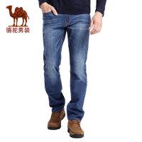 骆驼男装 秋季青年时尚棉质中腰商务休闲牛仔裤长裤子男