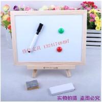 韩国 原木挂式/支架式小黑板 白板两用黑板 留言板